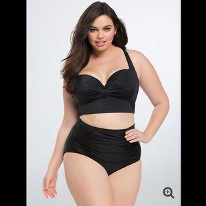 torrid Swim - NWOT Torrid- Twist Push Up Black Bikini Top